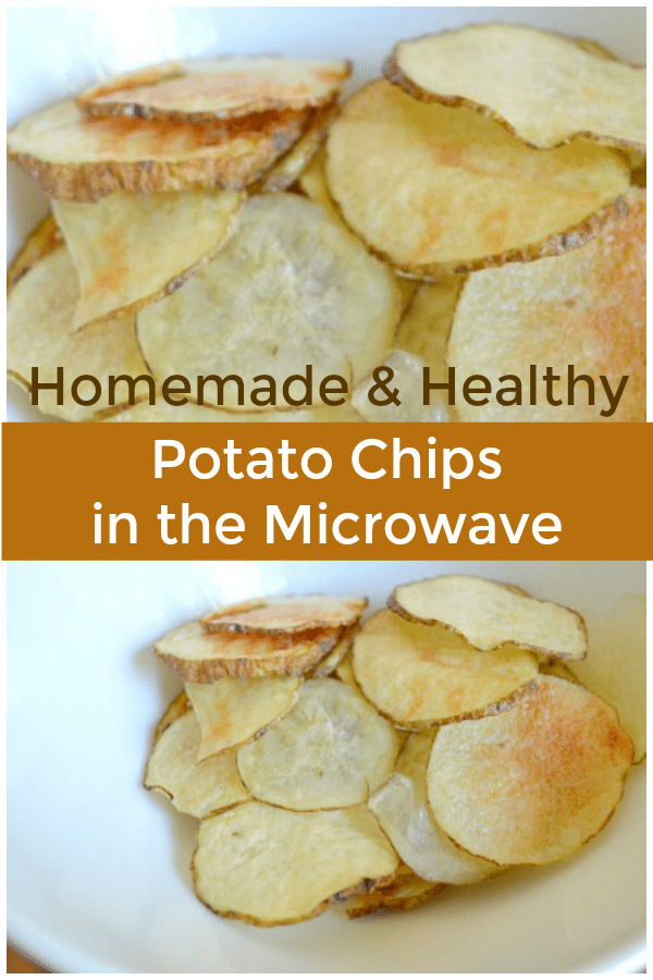 Homemade Healthy Potato Chips in the Microwave