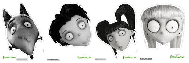 Frankenweenie Printable Masks
