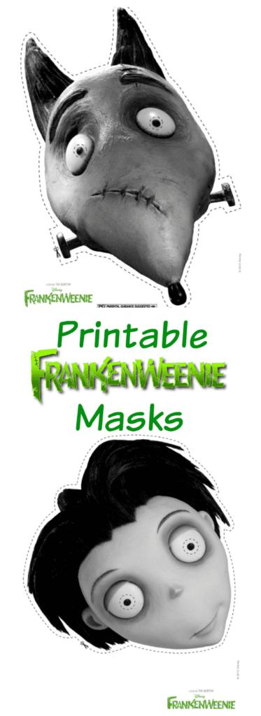 Printable Frankenweenie Masks