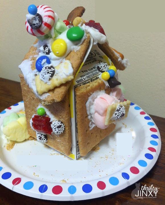 Milk Carton Gingerbread House