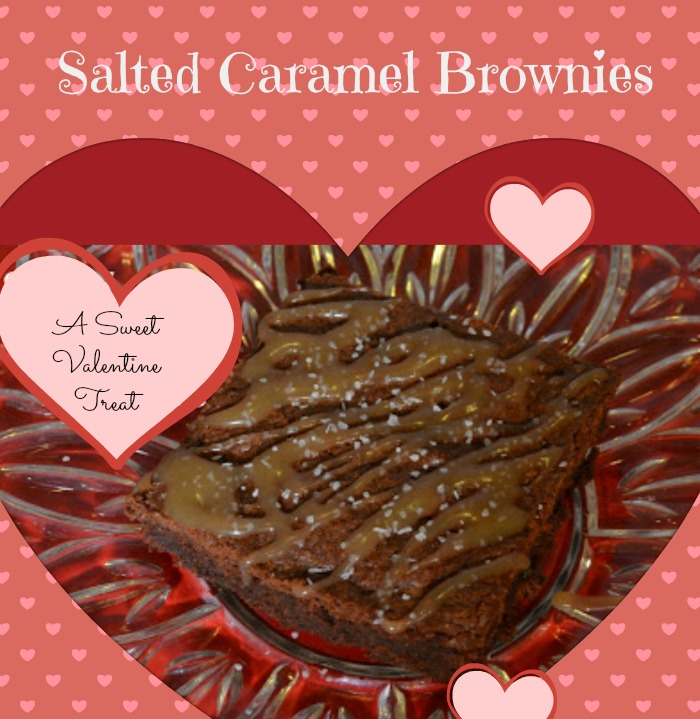 Salted Caramel Brownies Valentines