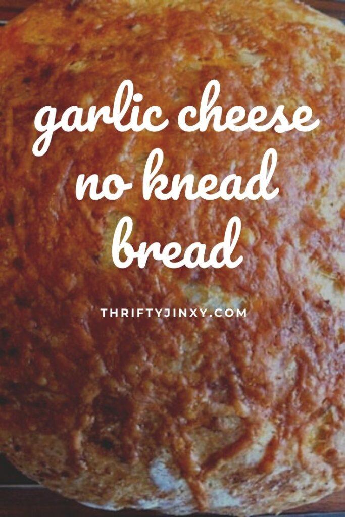 garlic cheese no knead bread