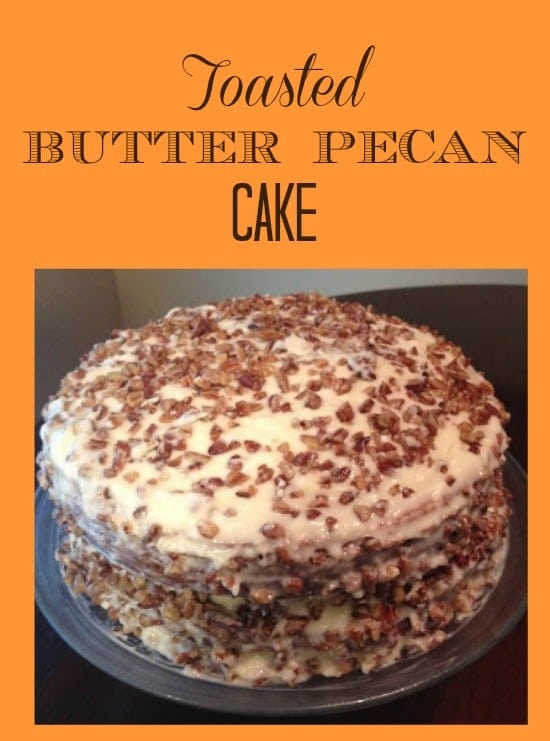 Toasted Butter Pecan Cake Recipe