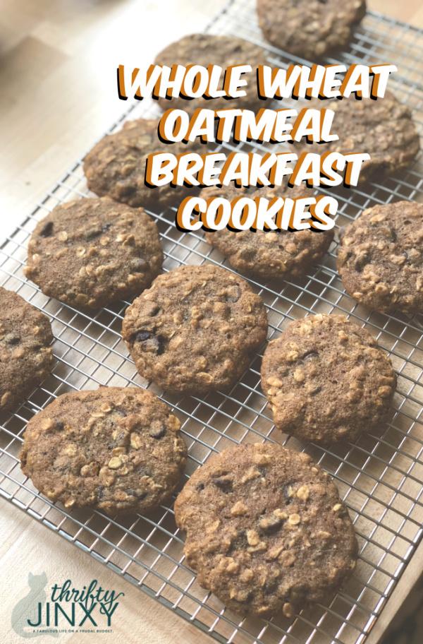 Healthy Whole Wheat Oatmeal Breakfast Cookies