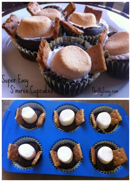 Super Easy S'mores Cupcakes