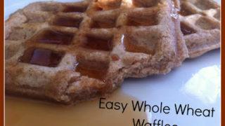 Easy Homemade Whole Wheat Waffles Recipe