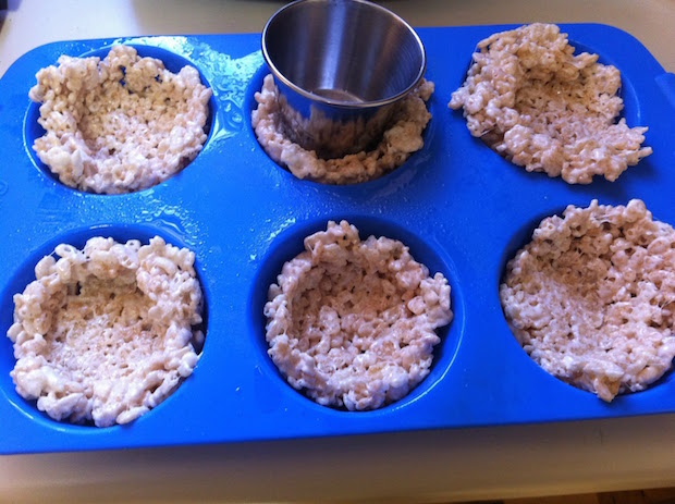 Rice Krispy Bird Nest Process