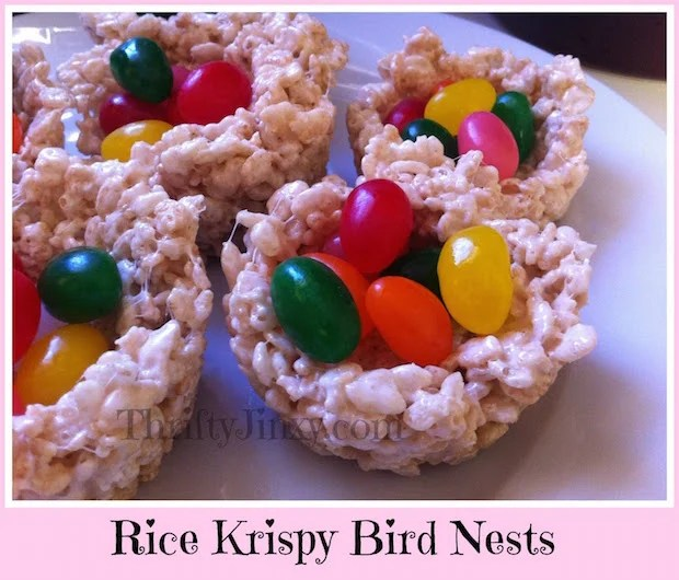 Rice Krispy Bird Nests
