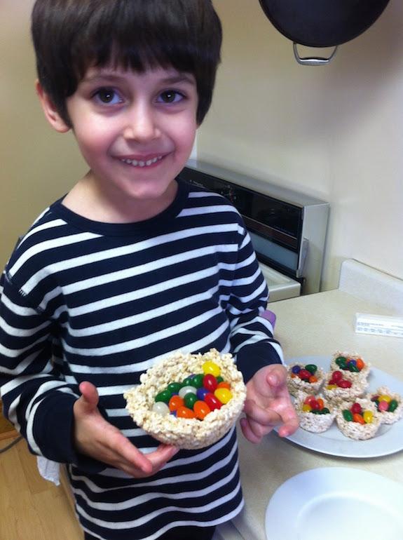 Rice Krispy Birds Nest Kids Recipe