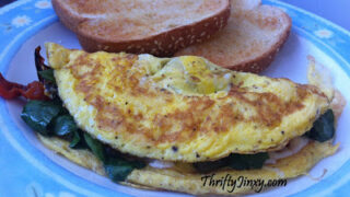 greek omelet with spinach and feta