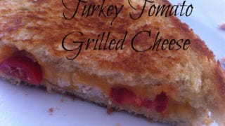 Turkey Tomato Grilled Cheese Sandwich