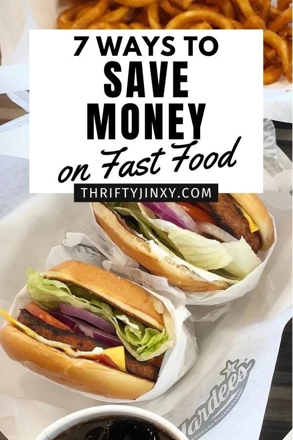 Save Money on Fast Food