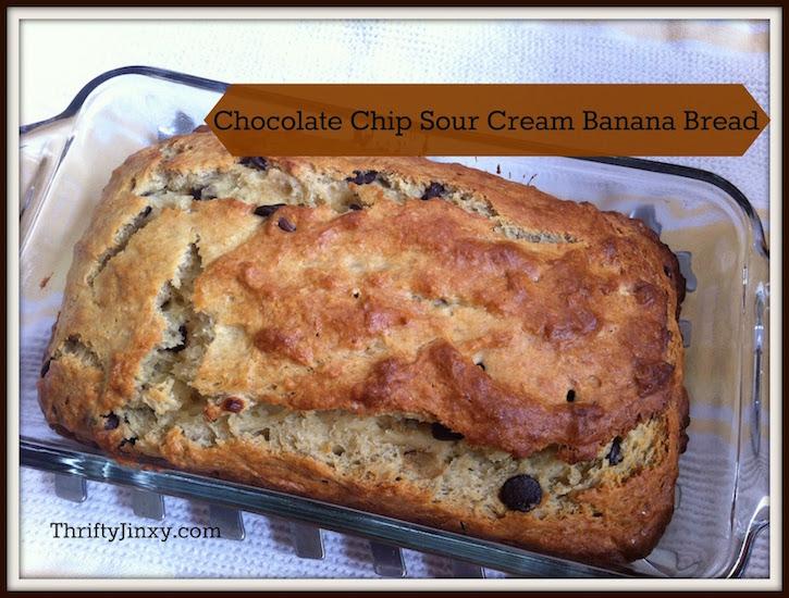 Chocolate Chip Sour Cream Banana Bread