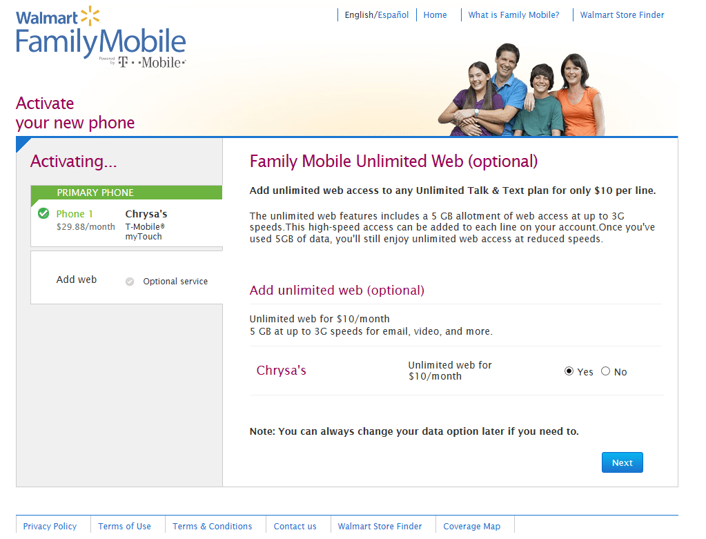 Walmart Family Mobile Activation #shop #FamilyMobileSaves
