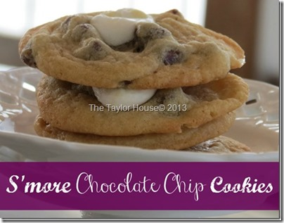 Smores Chocolate Chip Cookies