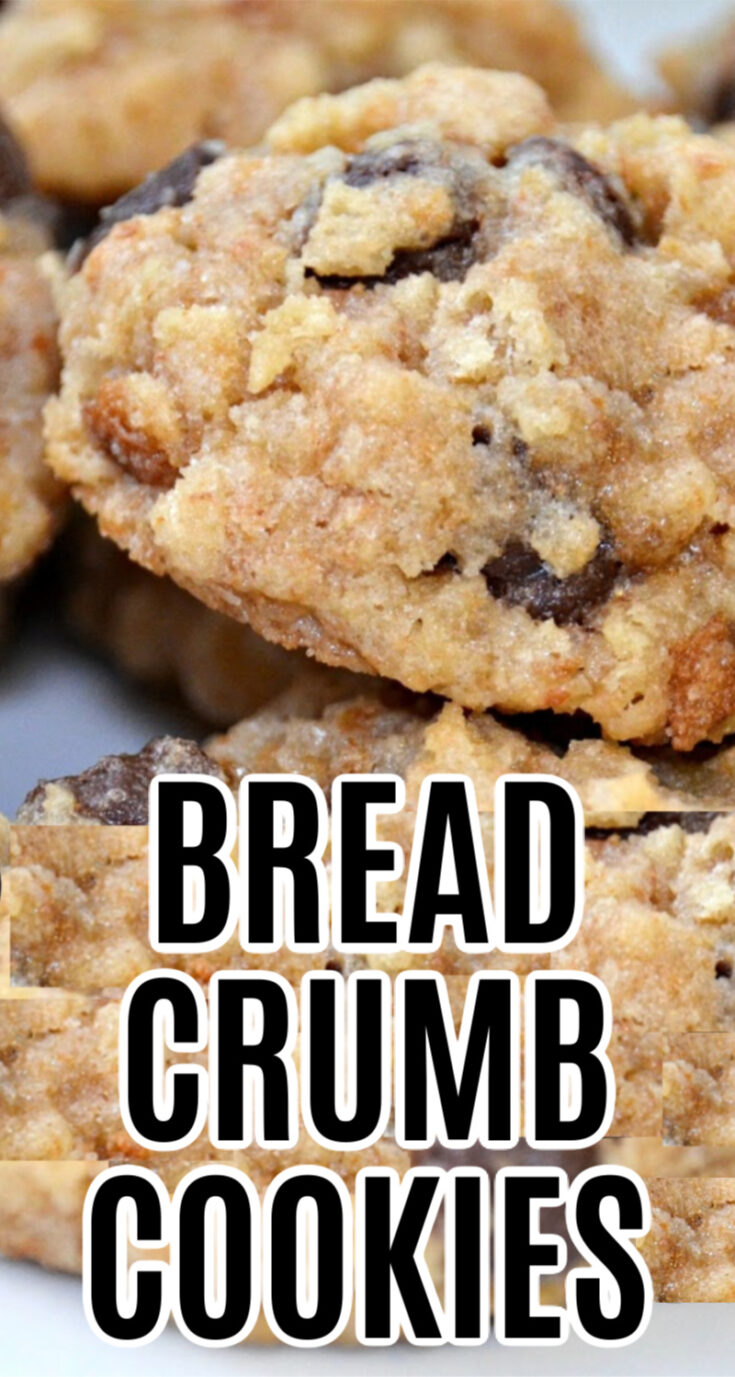 These delicious cookies are an excellent way to use up bread crusts or stale bread crumbs.