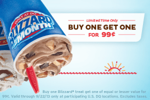 DQ BOGO Blizzards