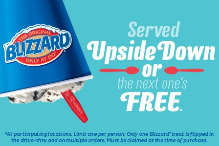 DQ Blizzard Upside Down or Free