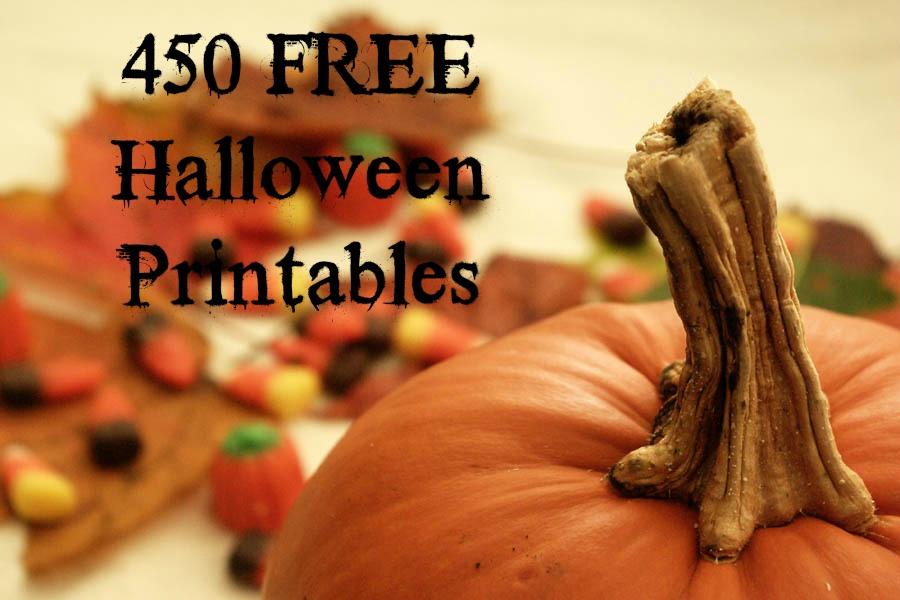 450 FREE Halloween Printables