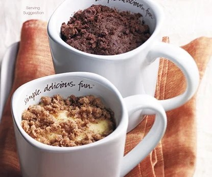 Tastefully Simple My Mug Cakes