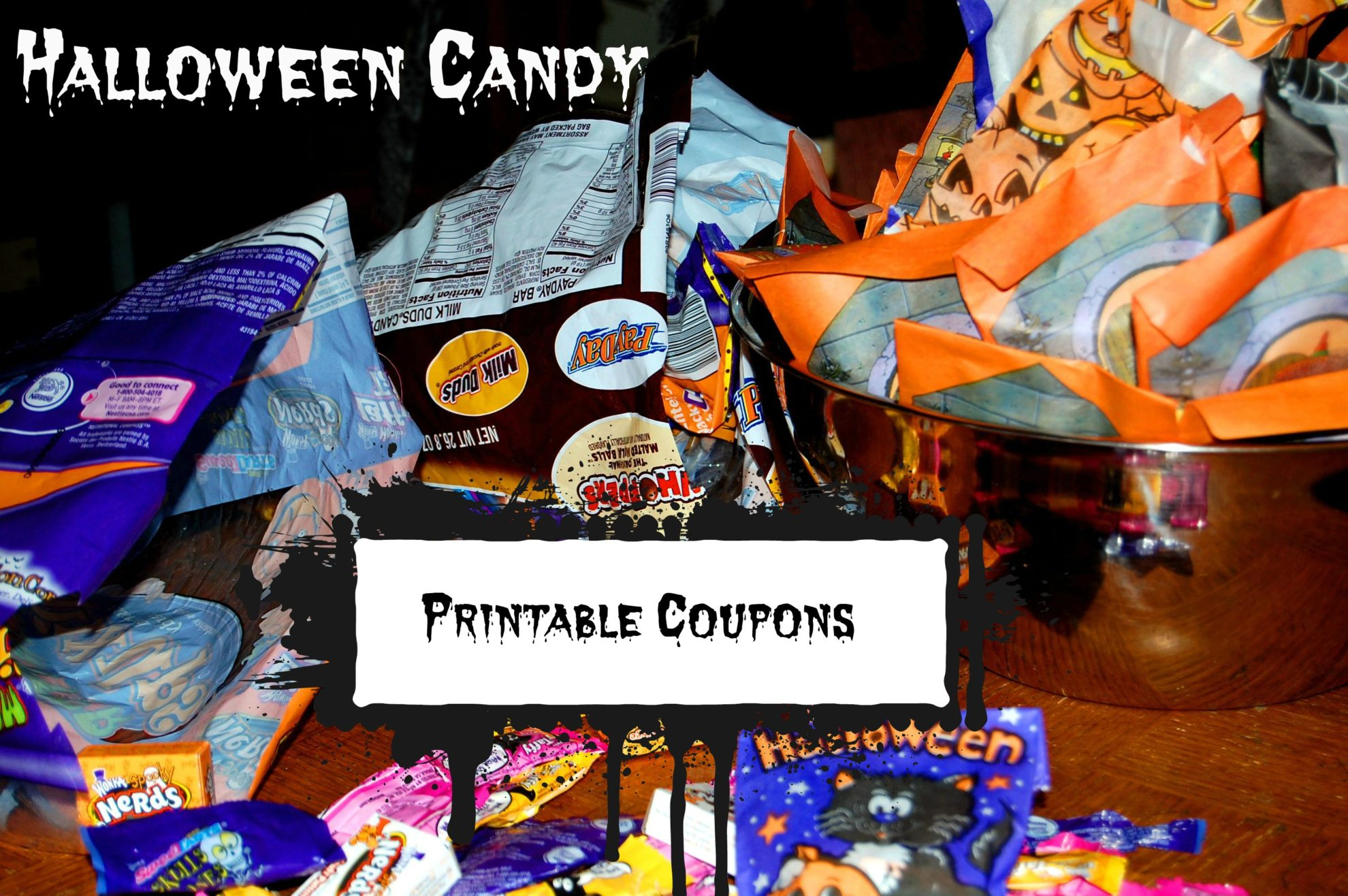 image relating to Printable Candy Coupons identify Halloween Sweet Printable Coupon codes - Thrifty Jinxy