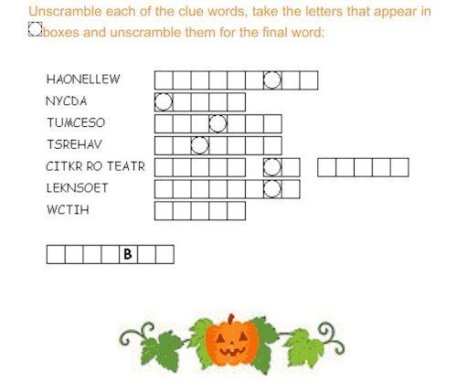 halloween-printable-word-scramble