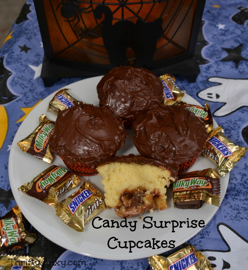 Candy Surprise Cupcakes #SpookyCelebrations #shop #cbias
