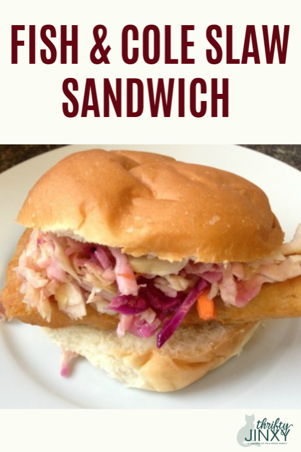 Fish and Cole Slaw Sandwich
