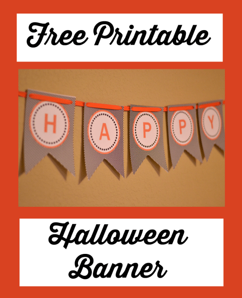 image relating to Halloween Banner Printable identified as Totally free Printable Halloween Banner - Thrifty Jinxy