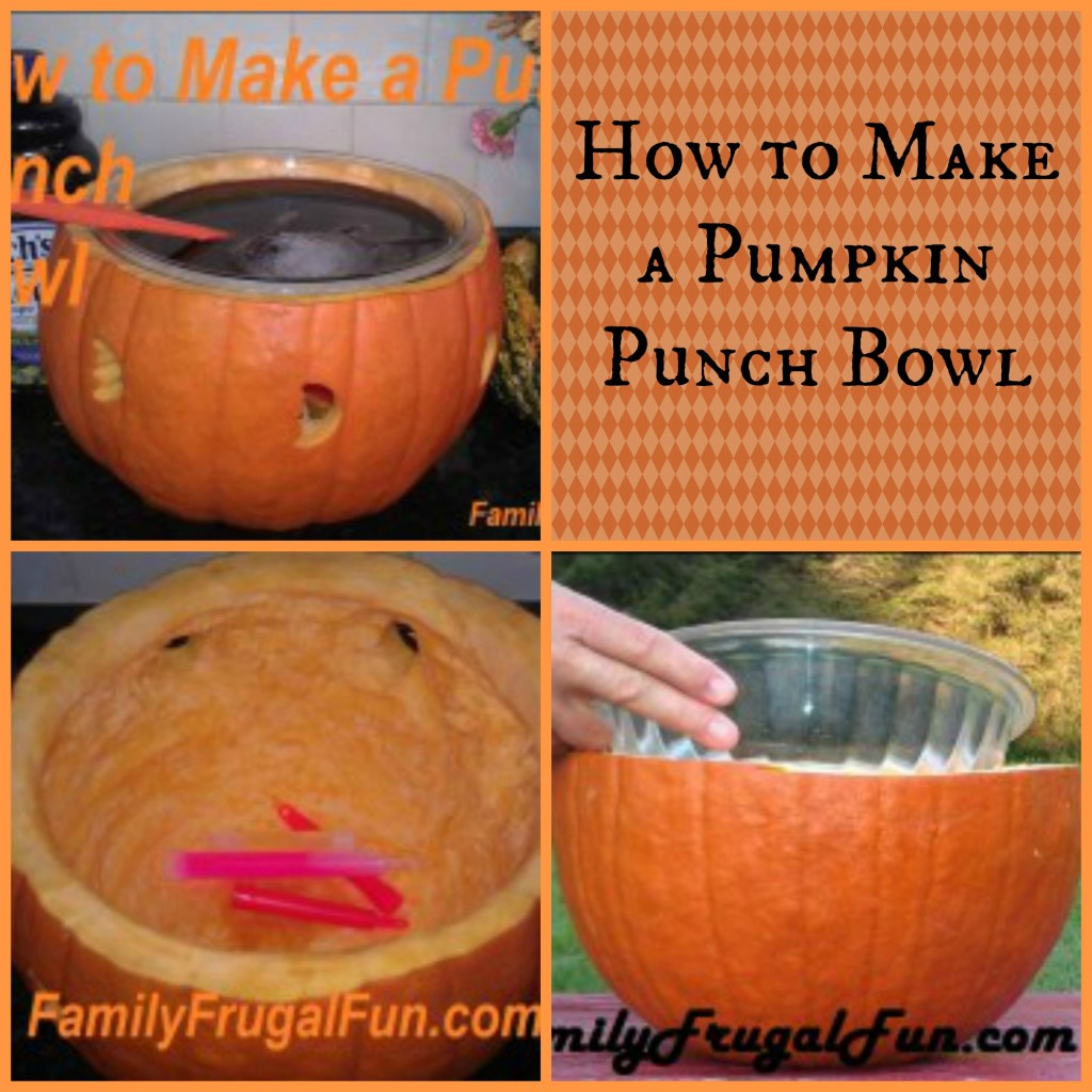 How to Make a Pumpkin Punch Bowl