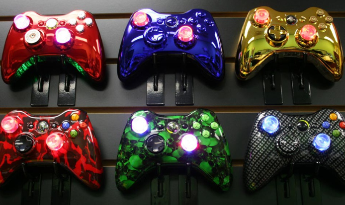 Ms4R Modz Custom Wireless Xbox 360 Lighted Modded Controller