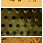 No mess cheese grating