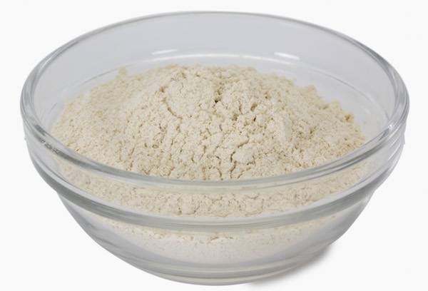 Close-up of flour in a bowl