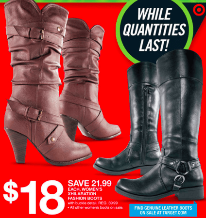 4ccc4bc2a Target: Women's Boots only $15.50 a Pair! - Thrifty Jinxy