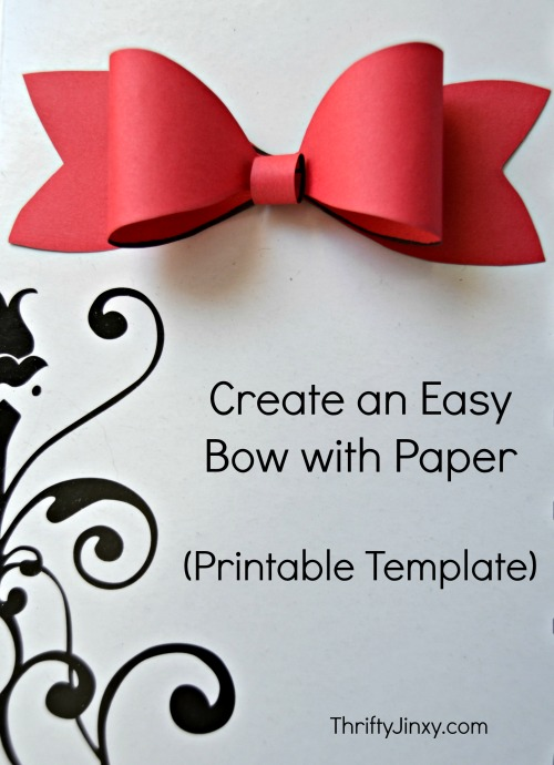 picture relating to Bow Template Printable called Printable Paper Bow Template - Produce Your Personal Bundle