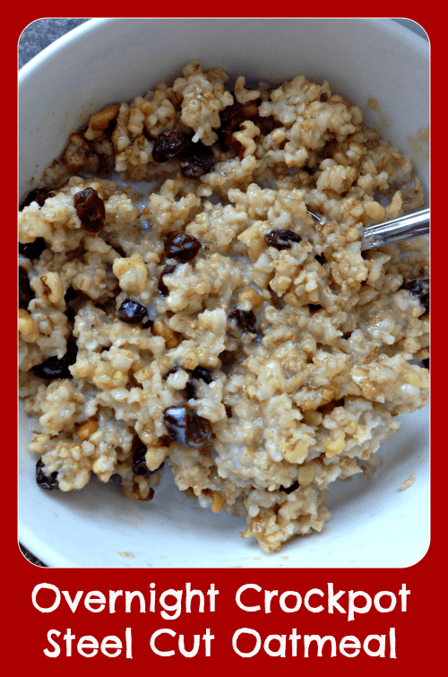Easy Overnight Crockpot Steel Cut Oatmeal Recipe