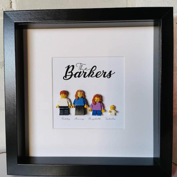 Lego Family Minifigure Portrait