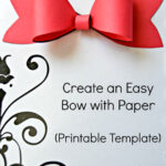 Paper Bow Template