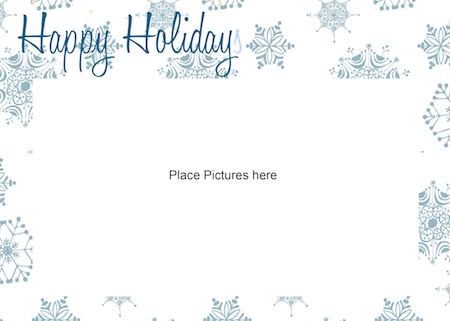 Printable Holiday Picture Card