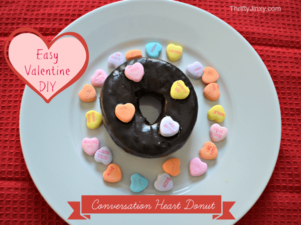 Conversation Heart Donut
