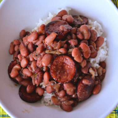 Crockpot-Red-Beans-Rice recipe