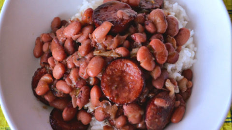 Crockpot Red Beans and Rice with Sausage