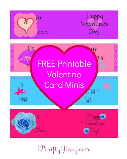 graphic about Free Printable Minis titled No cost Printable Valentine Playing cards Minis - Thrifty Jinxy