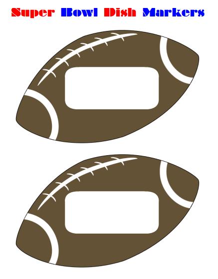 Free Printable Super Bowl Dish Markers