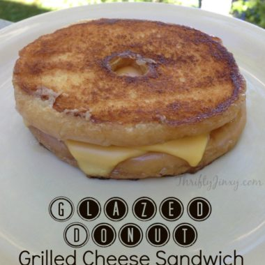 Glazed Donut Grilled Cheese Sandwich