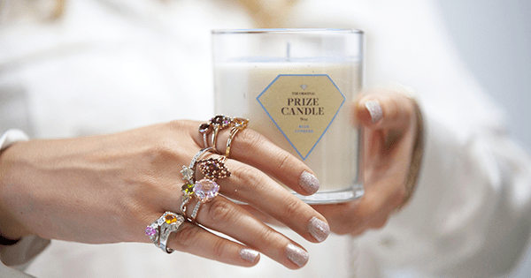 Prize Candle with Rings