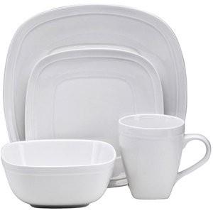 walmart white dinnerware set