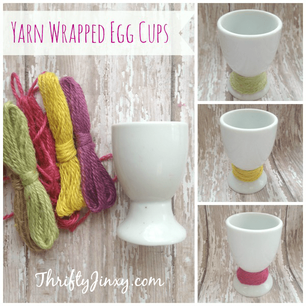 yarn wrapped easter egg cups