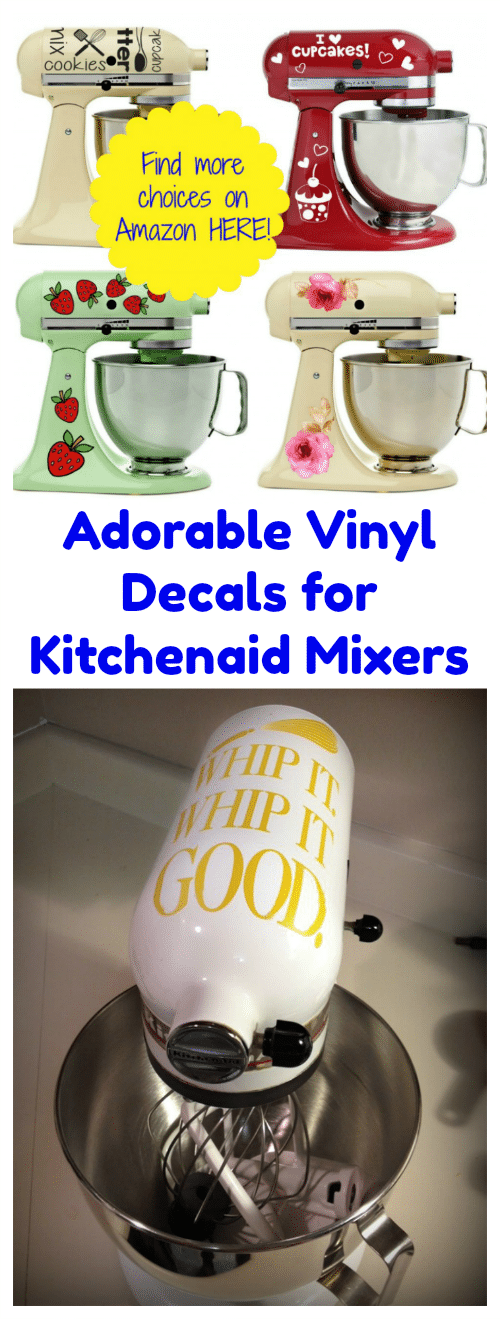 Adorable Vinyl Decals for Kitchenaid Mixers