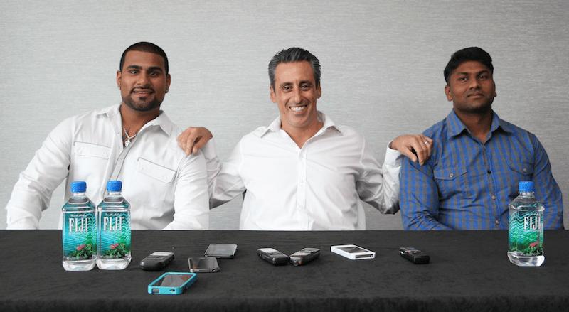 JB Bernstein, Rinku Singh and Dinesh Patel